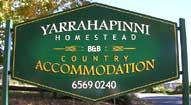 Yarrahapinni Homestead Sign